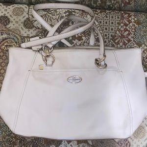 COACH white leather purse